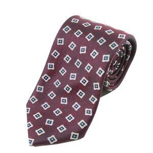 Ermenegildo Zegna Maroon Patterned Tie